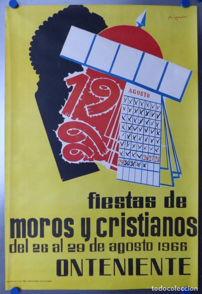 ONTENIENTE (VALENCIA) - CARTEL FIESTAS DE MOROS Y CRISTIANOS - DEL 26 AL 29 DE AGOSTO DE 1966 (Coleccionismo - Carteles Gran Formato - Carteles Ferias, Fiestas y Festejos)