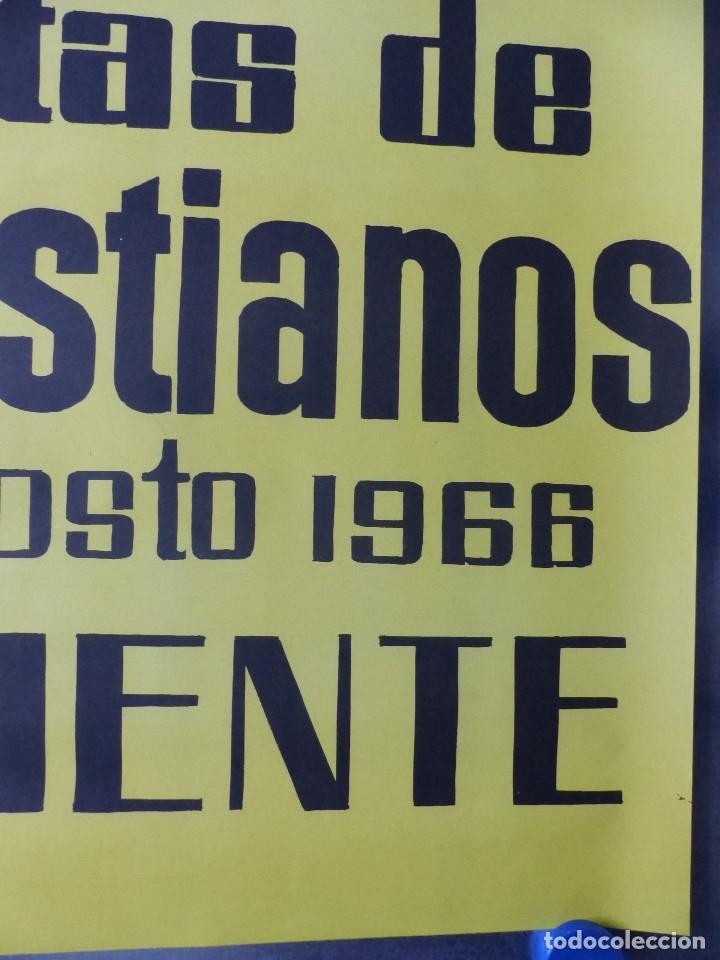 Carteles Feria: ONTENIENTE (VALENCIA) - CARTEL FIESTAS DE MOROS Y CRISTIANOS - DEL 26 AL 29 DE AGOSTO DE 1966 - Foto 3 - 116583035