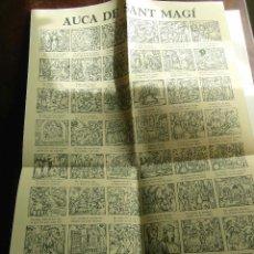 Carteles Feria: AUCA DE SANT MAGI. 1984. GOGISTES TARRAGONINS. JOSEP RIERA I GÜELL. EDICIO DE 900 EXEMPLARS. Lote 116857527