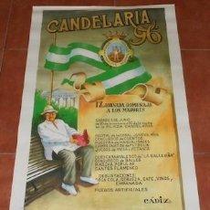 Carteles Feria: CARTEL IX JORNADA HOMENAJE A LOS MAYORES EN LA PLAZA CANDELARIA DE CÁDIZ, 1996. Lote 117061943