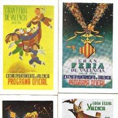 Carteles Feria: COLECCION PROGRAMA FERIA DE JULIO DE VALENCIA 1951 A 1975 (25 AÑOS). Lote 117759987
