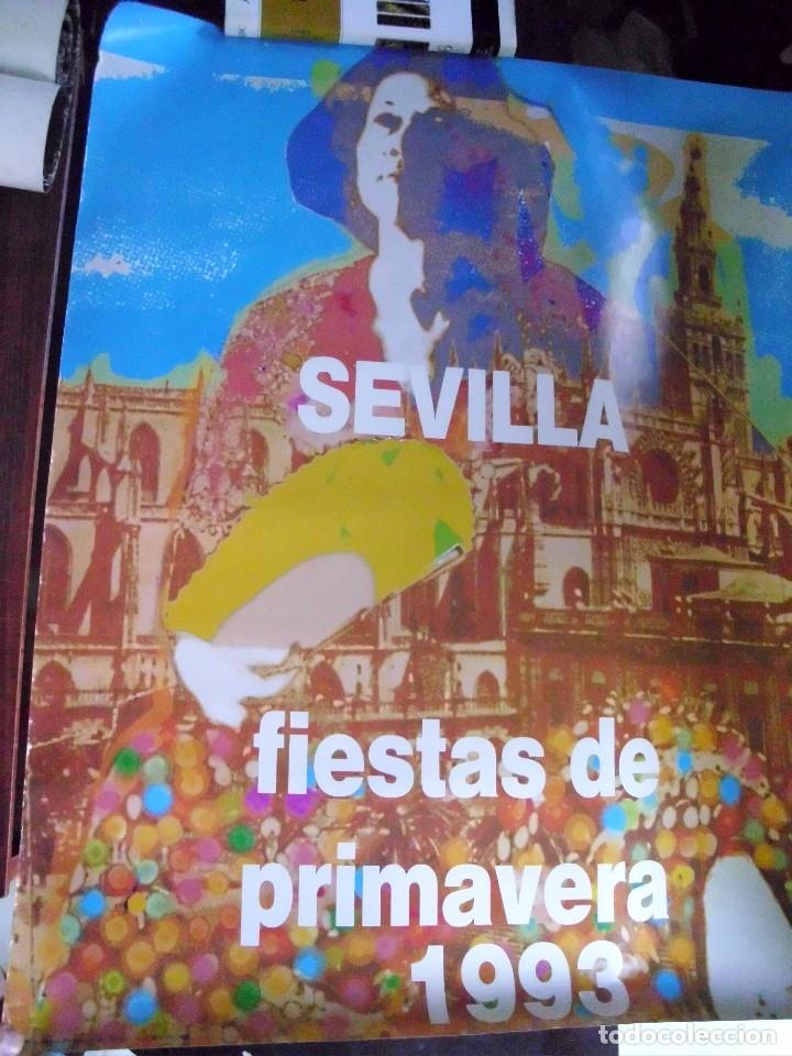 SEVILLA. FIESTAS DE PRIMAVERA 1993. TAMAÑO: 87 X 67 APROX.(ST/A6) (Coleccionismo - Carteles Gran Formato - Carteles Ferias, Fiestas y Festejos)