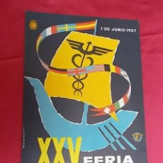 Carteles Feria: CARTEL. XXV FERIA OFICIAL E INTERNACIONAL DE MUESTRAS EN BARCELONA. 1957. Lote 119374299