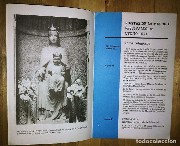 Carteles Feria: 1971 Programa Fiestas de la Merced Barcelona Primer centenario Festes de la merce - Foto 3 - 119493395
