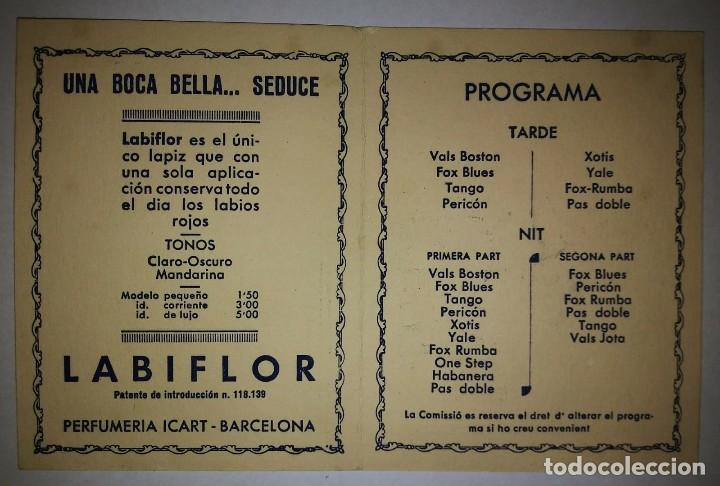 Carteles Feria: 1933 Festa Major de Sant Gervasi. Plaça molina. Publicidad depilatorio España en polvo. J.Icart. - Foto 3 - 119539891
