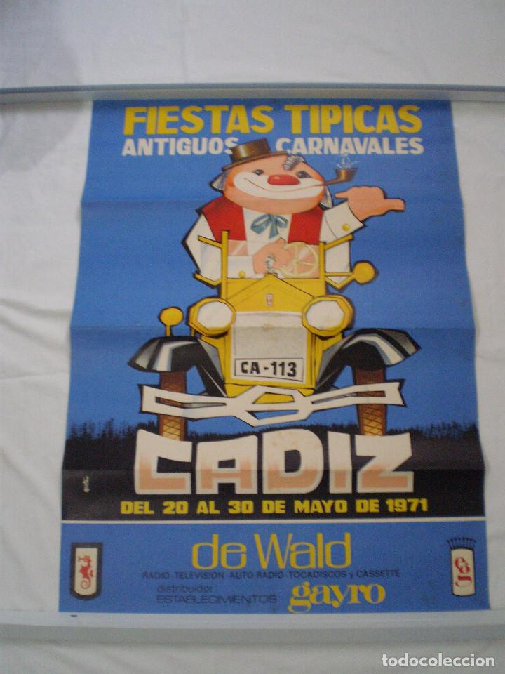 CARNAVAL DE CADIZ CARTEL FIESTAS TIPICAS GADITANAS 1971 (Coleccionismo - Carteles Gran Formato - Carteles Ferias, Fiestas y Festejos)