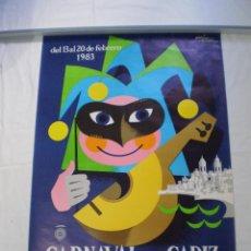Carteles Feria: CARNAVAL DE CADIZ CARTEL 1983. Lote 162542102