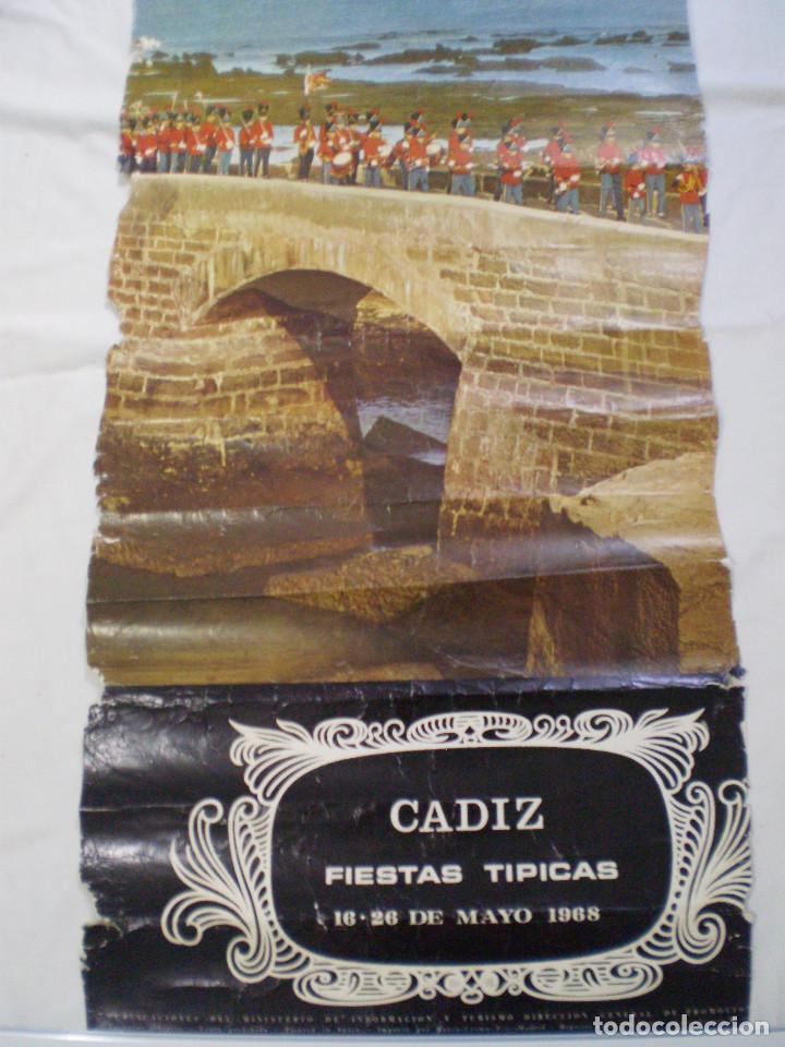 Carteles Feria: CARNAVAL DE CADIZ CARTEL FIESTAS TIPICAS GADITANAS 1968 - Foto 3 - 120171531