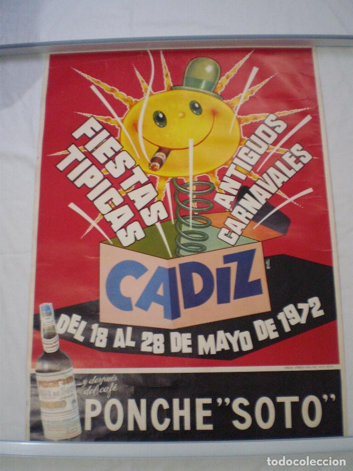 CARNAVAL DE CADIZ CARTEL FIESTAS TIPICAS GADITANAS 1972 (Coleccionismo - Carteles Gran Formato - Carteles Ferias, Fiestas y Festejos)