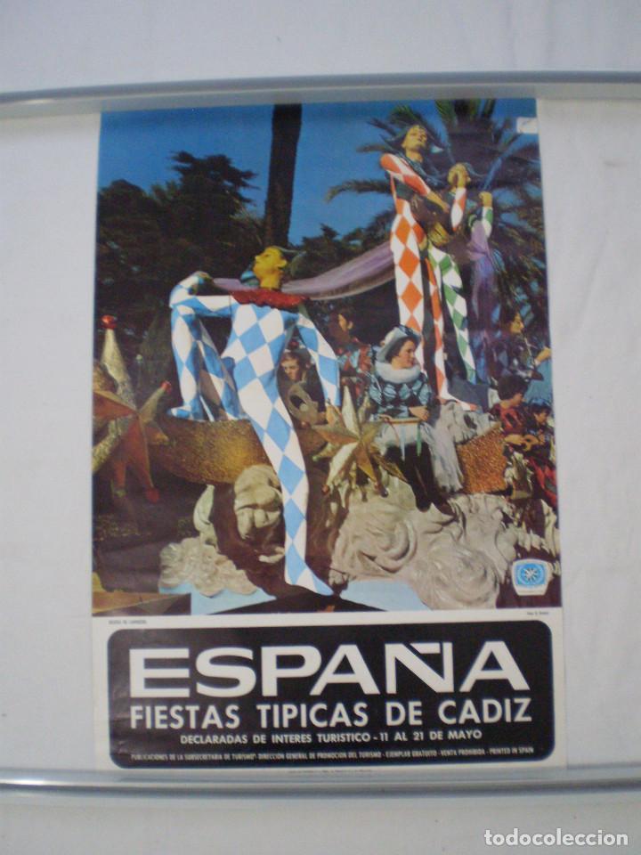 CARNAVAL DE CADIZ CARTEL FIESTAS TIPICAS GADITANAS 1967 (Coleccionismo - Carteles Gran Formato - Carteles Ferias, Fiestas y Festejos)