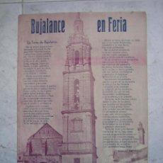 Carteles Feria: PROGRAMA DE FERIA Y FESTEJOS DE BUJALANCE. CÓRDOBA 1946. Lote 120919527