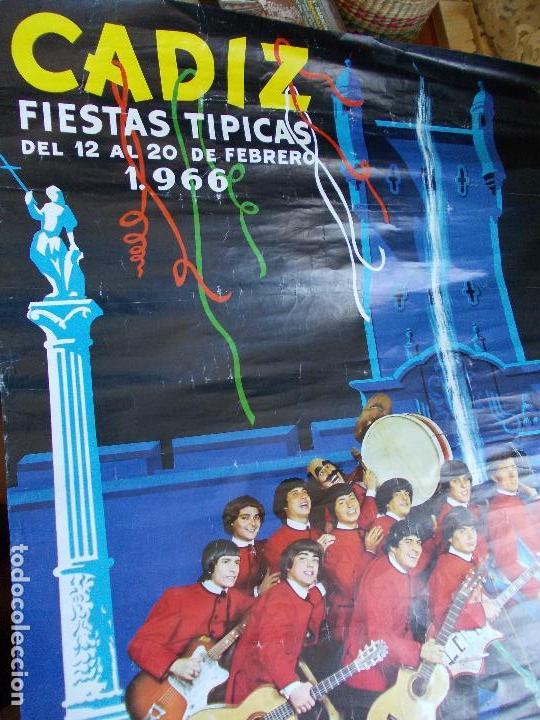 CARTEL FIESTAS TIPICAS DE CADIZ 1966 (Coleccionismo - Carteles Gran Formato - Carteles Ferias, Fiestas y Festejos)