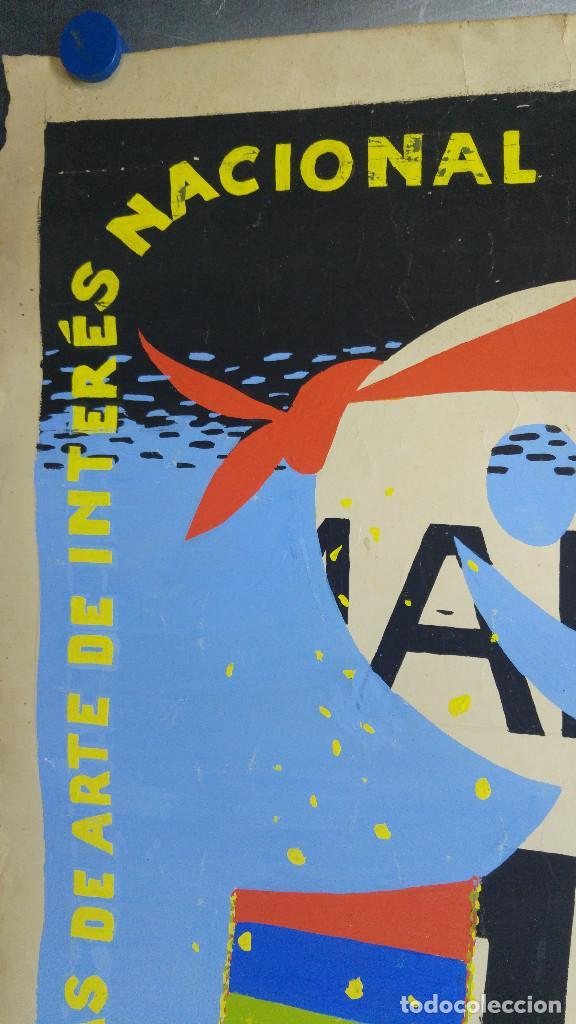 Carteles Feria: VALENCIA FALLAS SAN JOSE - AÑO 1963 - ORIGINAL PINTADO A MANO (BUÑOL) - Foto 8 - 122558283
