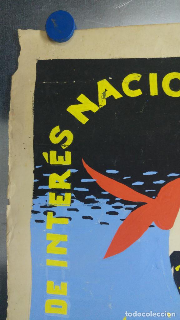 Carteles Feria: VALENCIA FALLAS SAN JOSE - AÑO 1963 - ORIGINAL PINTADO A MANO (BUÑOL) - Foto 15 - 122558283