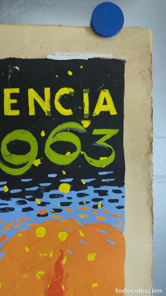 Carteles Feria: VALENCIA FALLAS SAN JOSE - AÑO 1963 - ORIGINAL PINTADO A MANO (BUÑOL) - Foto 17 - 122558283