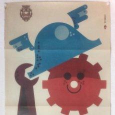 Carteles Feria: FERIAS MAYO 1972 DELS ENAMORATS - CARTEL POSTER ORIGINAL - VILAFRANCA DEL PENEDES DISEÑO CASANELLAS. Lote 122864711