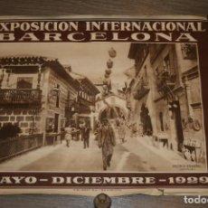 Carteles Feria: BARCELONA. CARTEL EXPOSICIÓN UNIVERSAL AÑO 1929. PUEBLO ESPAÑOL. MIDE 70 X 53. . Lote 122956043