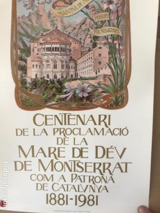 Carteles Feria: CARTEL DEL CENTENARIO DE LA PROCLAMACION DE LA MARE DE DEU DE MONTSERRAT, 1881-1991. - Foto 2 - 125426643