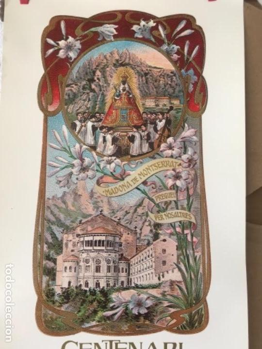 Carteles Feria: CARTEL DEL CENTENARIO DE LA PROCLAMACION DE LA MARE DE DEU DE MONTSERRAT, 1881-1991. - Foto 3 - 125426643