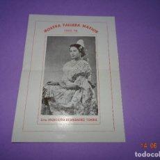 Carteles Feria: ANTIGUO PROGRAMA PRESENTACIÓN FALLERA MAYOR FALLA BORRULL - TURIA DEL AÑO 1953-54. Lote 126053771
