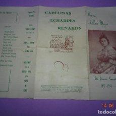 Carteles Feria: ANTIGUO PROGRAMA COMISIÓN FALLA AZCARRAGA DEL AÑO 1953-54. Lote 126054387