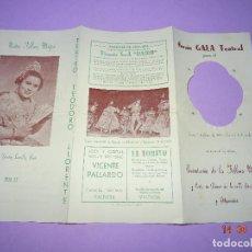 Carteles Feria: ANTIGUO PROGRAMA GRAN GALA TEATRAL PRESENTACIÓN FALLERA MAYOR FALLA AZCARRAGA Y ADYACEN DEL AÑO 1955. Lote 126054603