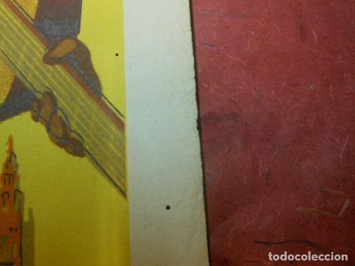 Carteles Feria: 1947 CARTEL DE SEVILLA FERIA DE ABRIL Y FIESTAS PRIMAVERALES - DIBUJADO POR PEREZ PALACIOS - Foto 3 - 126293619