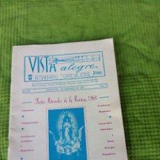 Carteles Feria: PROGRAMA DE FIESTAS TORREVIEJA ALICANTE DICIEMBRE 1968. Lote 126294379