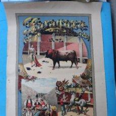 Carteles Feria: CARTEL FERIA FIESTAS Y TOROS, ZARAGOZA 1894 NTRA. SRA. DEL PILAR, MARCELINO DE UNCETA, ORIGINAL. Lote 127753551