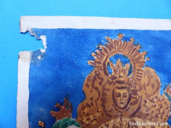 Carteles Feria: VALENCIA MARE DE DEU DELS DESAMPARATS - ORIGINAL PINTADO A MANO - AÑOS 1930 - Foto 2 - 129164687