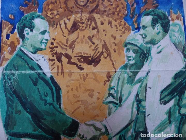 Carteles Feria: VALENCIA MARE DE DEU DELS DESAMPARATS - ORIGINAL PINTADO A MANO - AÑOS 1930 - Foto 3 - 129164687
