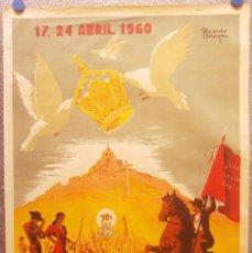 Carteles Feria: ROMERIA DE ANDUJAR, JAEN. FIESTAS RECORONACION NUESTRA SEÑORA CABEZA. AÑO 1960. RICARDO ANAYA ILUSTR. Lote 129433111
