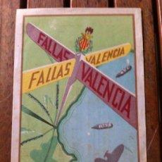 Carteles Feria: FALLAS DE VALENCIA 1949. PAPELETA RIFA DE CARTÓN. FALLA GUILLÉN DE CASTRO, EMBÁN Y ESPINOSA.. Lote 130311254