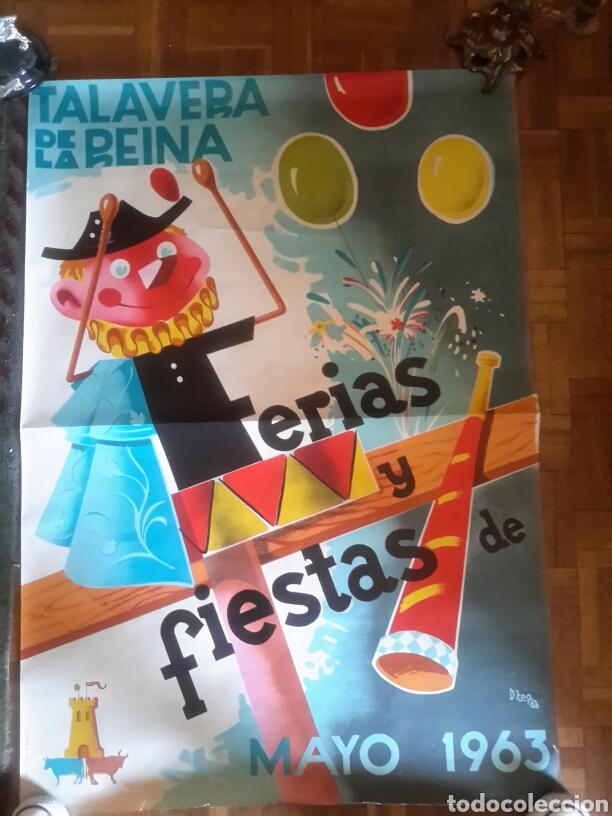 CARTEL DE 1963 DE LAS FERIAS DE TALAVERA (Coleccionismo - Carteles Gran Formato - Carteles Ferias, Fiestas y Festejos)
