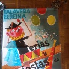 Carteles Feria: CARTEL DE 1963 DE LAS FERIAS DE TALAVERA. Lote 130539059