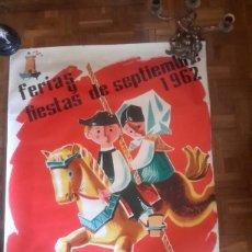 Carteles Feria: CARTEL DE LAS FERIAS DE TALAVERA DE 1962. Lote 130539788