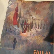 Carteles Feria: FALLAS VALENCIA 1990 CARTEL POSTER ORIGINAL. Lote 130547874