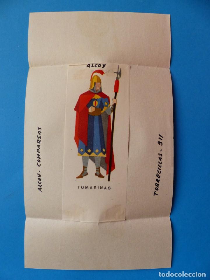 ALCOY, ALICANTE, MOROS Y CRISTIANOS - TOMASINAS - PRUEBA IMPRENTA LITOGRAFIA ORTEGA - AÑOS 1950-60 (Coleccionismo - Carteles Gran Formato - Carteles Ferias, Fiestas y Festejos)