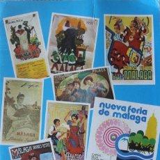 Carteles Feria: FERIA DE MALAGA PROGRAMA OFICIAL DE LA FERIA DE AGOSTO POR PRIMERA VEZ EN SU NUEVO EMPLAZAMIENTO. Lote 131097076
