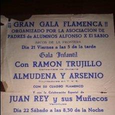 Carteles Feria: CARTEL GALA FLAMENCA EL CARBONERO JEREZ . Lote 131902502