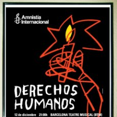 Carteles Feria: CARTEL - CAMPAÑA DE DERECHOS HUMANOS INTERNATIONAL AMNESTY.POR MARISCAL 68X45,6 CMS. Lote 131937162