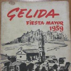Carteles Feria: PROGAMA FIESTA MAYOR 1959. Lote 132403718