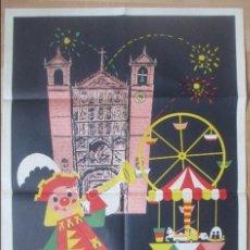 Carteles Feria: CARTEL FERIA Y FIESTAS DE SAN MATEO, VALLADOLID, 1962, ORIGINAL, CF46. Lote 132808682