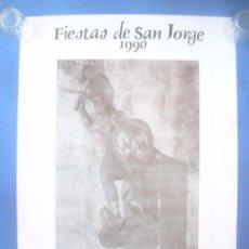 Carteles Feria: CARTEL CÁCERES FIESTAS SAN JORGE 1990. Lote 132948182