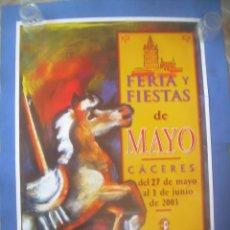Carteles Feria: CARTEL CÁCERES FERIA Y FIESTAS DE MAYO 2003, SAN FERNANDO. Lote 132957634