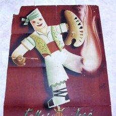Carteles Feria: CARTEL FALLAS DE SAN JOSÉ - VALENCIA 1951. AUTOR EYELO. LITOGRAFÍA ORTEGA, S.A.. Lote 184349878