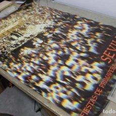 Carteles Feria: CARTEL ORIGINAL FIESTAS DE PRIMAVERA SEMANA SANTA SEVILLA 1981-GRÁFICAS DEL SUR/ BUEN ESTADO. Lote 133030538