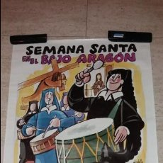 Cartazes Feira: CARTEL SEMANA SANTA RUTA DEL TAMBOR DIBUJO MINGOTE. Lote 133057674