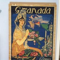 Carteles Feria: CARTEL ORIGINAL DEL CORPUS CHRISTI - GRANADA 1915. Lote 133217119