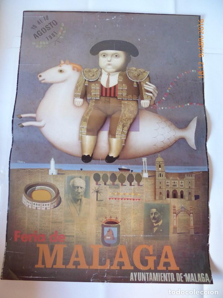 FERIA DE MALAGA CARTEL AÑO 1991, 68X48 (Coleccionismo - Carteles Gran Formato - Carteles Ferias, Fiestas y Festejos)